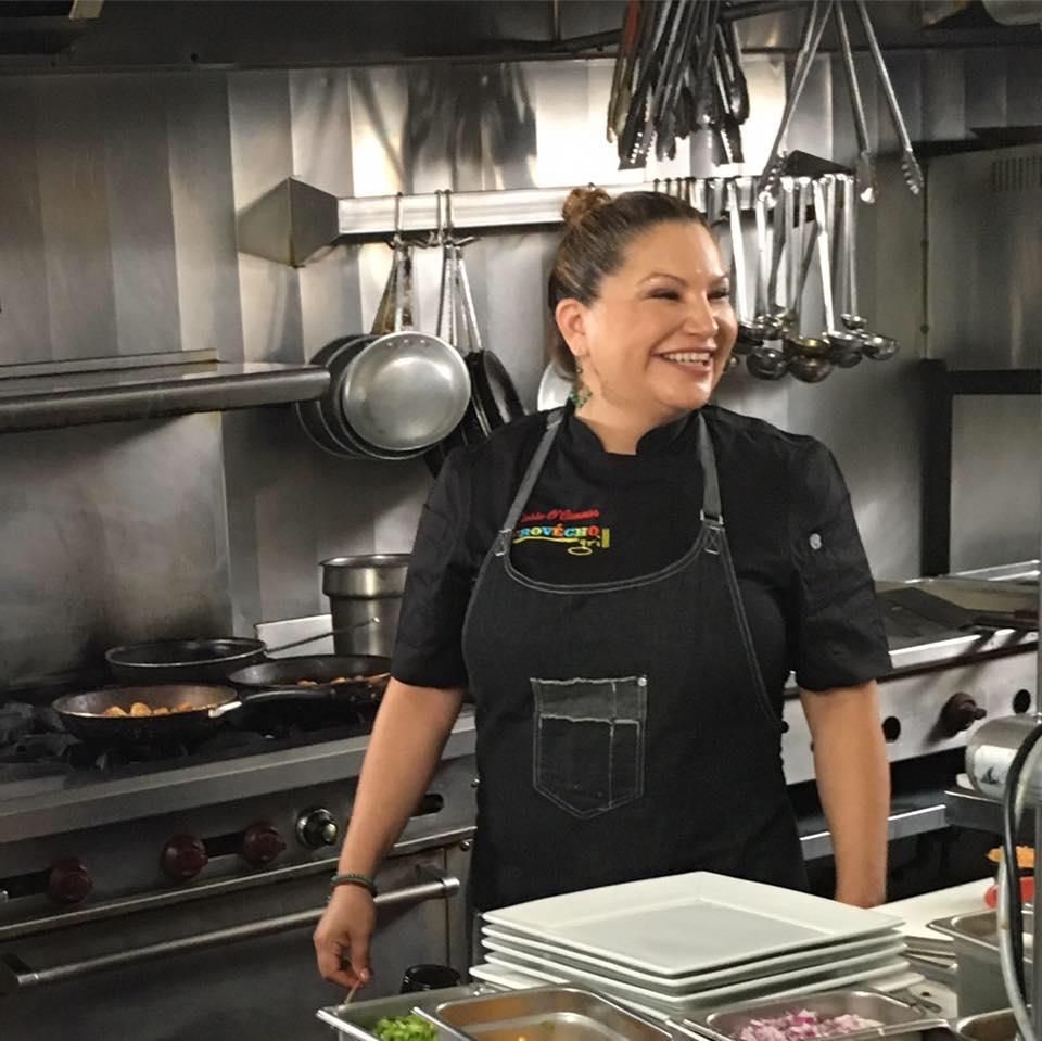 chef rosie, provecho grill, award winning latina chef, latina chef, calimex cuisine
