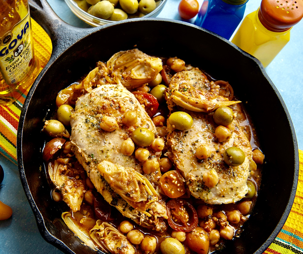 pollo veracruz, pollo veracruz recipe, chicken veracruz, goya foods, goya recipes, goya cooking demo, latina conference, ontario california